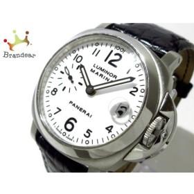 307e84366d パネライ PANERAI 腕時計 ルミノールマリーナ PAM00049 メンズ SS/革ベルト 白 値下げ 20190605