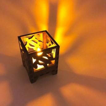 卓上ランプ ホヌ 5cm×5cm LED付 行燈型