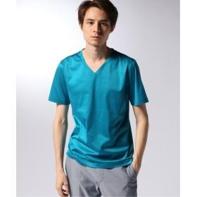 EDIFICE CITA / チータ Vネック Tシャツ サックスブルー B 44