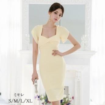 ナイトドレス スリットワンピース ミディアムワンピース パーディードレス 通勤 OL お呼ばれ 着痩せ 結婚式 タイトドレス 半袖