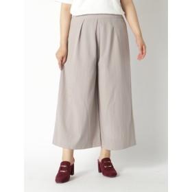 【大きいサイズレディース】【L-3L】きれいめストライプワイドパンツ パンツ ワイドパンツ
