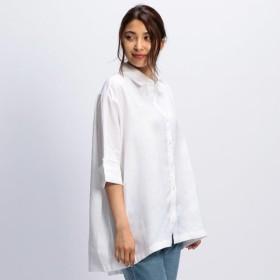NARACAMICIE ナラカミーチェ イタリアン麻ドルマンチュニックシャツ