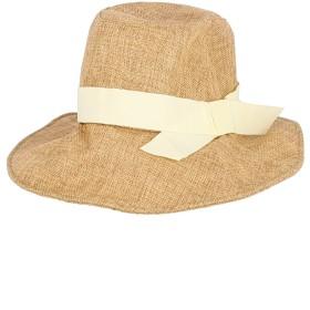 帽子全般 - coca シンプルテープリボン麻風ソフトハット/鈴木詩織さん着用(ワイヤー入り ツバ広 つば広 帽子 女優帽 折りたためる 19ss cocaコカ)