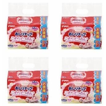 【セット品】ピジョン おしりナップ こすらずつるんっ (乳液タイプ) 詰替用 66枚入×6個パック (4袋)