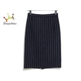 ドレステリア DRESSTERIOR スカート サイズ36 S レディース ネイビー×白 ストライプ  値下げ 20190813