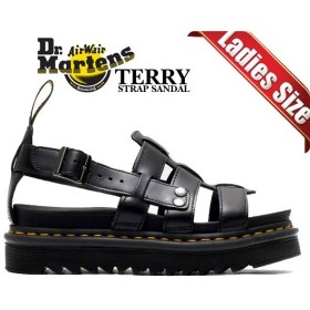 ドクターマーチン ストラップ サンダル Dr.Martens TERRY STRAP SANDAL BLACK ZEBRILUS BRANDO 23521001 ZIGGY SOLE ジギーソール グラディエーター 厚底