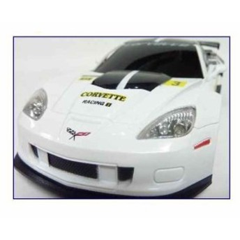 GK・シボレーコルベットC6.Rレーシングカー正規認証車1/24ラジコンカー/ホワイト[866-2417]