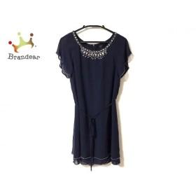 ルジュール LEJOUR ドレス サイズ38 M レディース 美品 ネイビー ビジュー 新着 20190521
