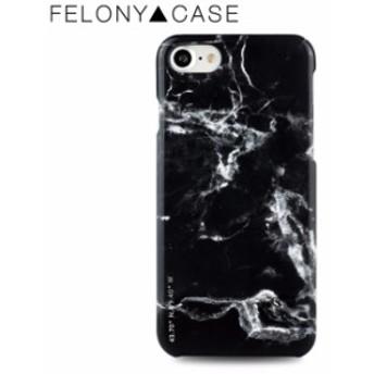 iPhone8/7 ハードケース 背面ケース FELONY CASE フェロニー ケース POLISHED MARBLE Black ブラック カナダ 大理石 マーブル