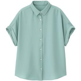 (GU)エアリーシャツ(半袖) BLUE XL