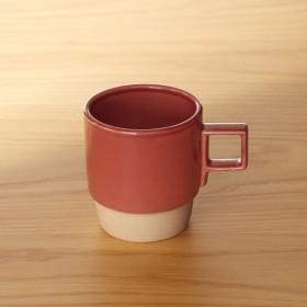 ベルメゾンデイズ スタッキングできる軽量マグカップ[日本製] カラー 「レッド」