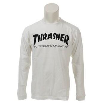 THRASHER MAG プリント長袖Tシャツ TH8301WH-HL (Men's)