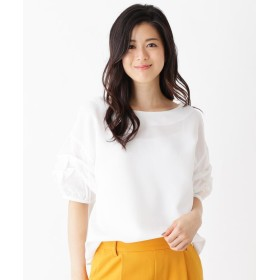 HusHusH(Ladies)(ハッシュアッシュ(レディース)) ◆【洗濯機で洗える】ギャザーシャツ