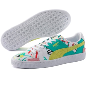 【プーマ公式通販】 プーマ PUMA x SHANTELL MARTIN BASKET GRAPHIC ウィメンズ Puma White-Sunny Lime |SHOES|PUMA.com