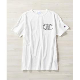 Champion バックロゴプリントTシャツ メンズ ホワイト