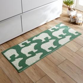 キッチンマット 床ピタキッチンマット シロクマ 約45×60