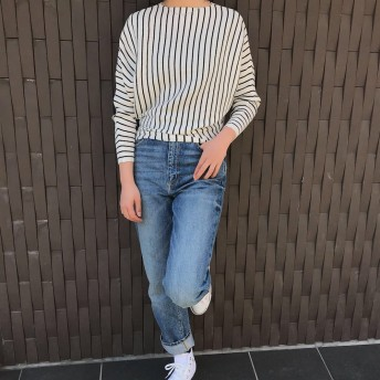 ニット・セーター - Ichika ボーダードルマンニットSS