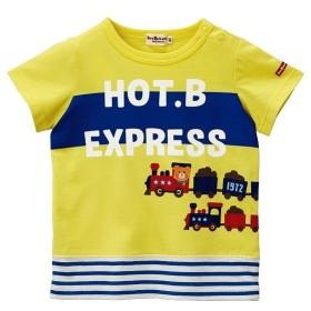[マルイ]【セール】[80/90cm] Tシャツ(のりもの / 男の子 / 裾ボーダー)/ミキハウス ホットビスケッツ(MIKIHOUSE HOT BISCUITS)