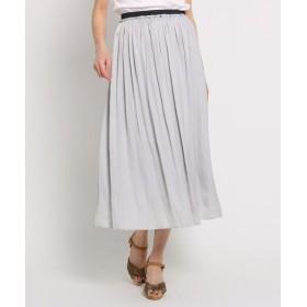 SunaUna / スーナウーナ 【洗える】アンピクシスサテン ロングスカート