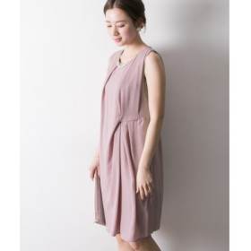 7152dd7868f26  アーバンリサーチ URBAN RESEARCH  UR COUTURE MAISON ネックレスツキアシメタックドレープワンピース