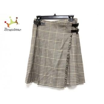 トゥモローランド 巻きスカート サイズ36 S レディース ベージュ×ネイビー 千鳥格子 スペシャル特価 20190902