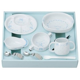 お皿 皿 食器 リボン デ アンジュ ベビー食器 セット 87415 金正陶器 (D)