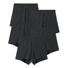 【WEB限定】綿混ストレッチ深ばきボクサーショーツ5枚組 スタンダードショーツ,Panties
