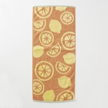 タオル 吸水力のある無撚糸と中空糸のタオル オレンジ れもん ハンガーに干せるバスタオル
