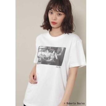 ROSE BUD / ローズ バッド ROBERTA BAYLEYフォトプリントTシャツ