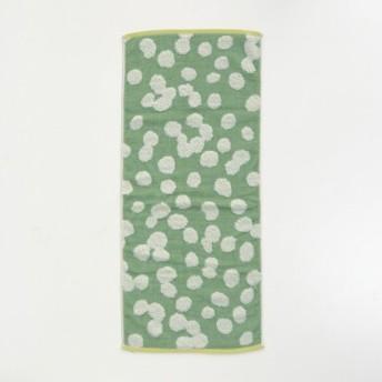 タオル 吸水力のある無撚糸と中空糸のタオル グリーン こもれび ハンガーに干せるバスタオル
