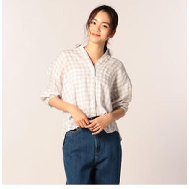 【SALE開催中】【FREDY & GLOSTER:トップス】【新色追加】バックタックリネンシャツ