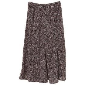 anana / レオパ&フラワーハギロングスカート