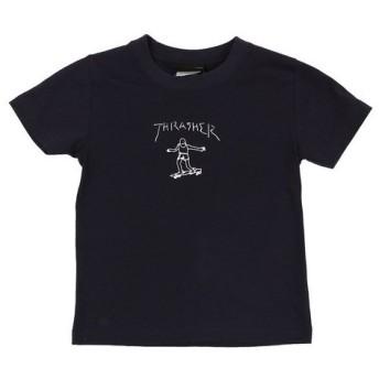 THRASHER ジュニア GONZ ロゴ Tシャツ TH8128KN-HL (Jr)