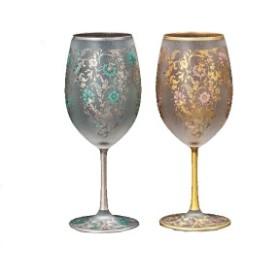 エル・ドラード アラベスク ゴールド&シルバー ペアセット wine(ワイングラス) 540ml S-6157
