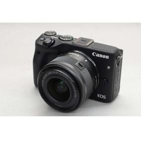[中古] Canon ミラーレスカメラ EOS M3 ダブルズームキット2 ブラック 9694B164
