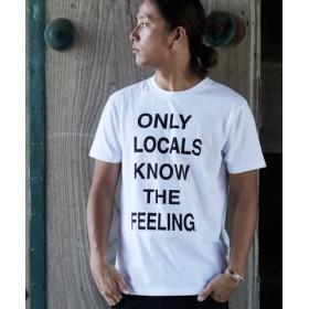 (SHIFFON/SHIFFON)KAGAFURI KAMAKURA(カガフリ カマクラ) ONLY LOCAL Tシャツ/メンズ ホワイト 送料無料