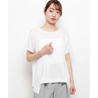 モディファイ ギャラクシーイレギュラー裾ニット レディース ホワイト(002) 40(M/ミセス) 【Modify】