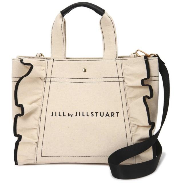 【公式/JILL by JILLSTUART】フリルキャンバストートバッグ/女性/キャンバスバッグ/ホワイト/サイズ:FR/