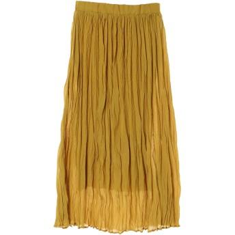 【5,000円以上お買物で送料無料】・ワッシャープリーツスカート