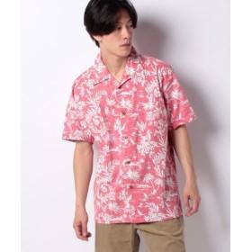 (MARUKAWA/マルカワ)大きいサイズ メンズ アロハ シャツ 綿 裏使い 総柄 プリント オープンカラー 開襟/メンズ レッド