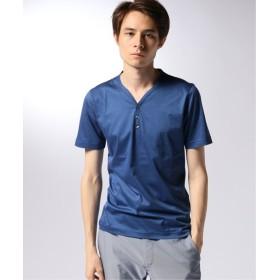 EDIFICE CITA / チータ ヘンリーネックTシャツ ブルー 46