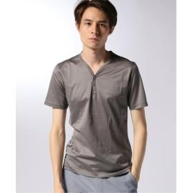 EDIFICE CITA / チータ ヘンリーネックTシャツ カーキ 46