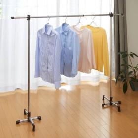 省スペースに収納できる伸縮竿1本付き室内ポールスタンド物干し カラー