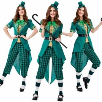 ハロウィン アイルランド 妖精 民族衣装 マジシャン サーカス 猛獣使い グリーン 仮装コスプレ衣装 ps3660