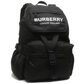【送料無料】バーバリー バッグ BURBERRY 8010608 A1189 ロゴプリント メンズ レディース リュック・バックパック 無地 BLACK 黒