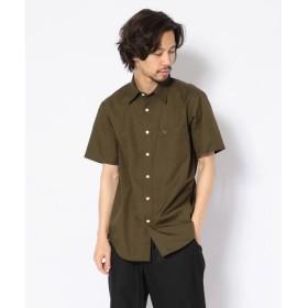 アヴィレックス ツイルシャツ/ SS TWILL SHIRT メンズ OLIVE L 【AVIREX】
