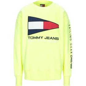 《期間限定 セール開催中》TOMMY JEANS メンズ スウェットシャツ イエロー XL ポリエステル 57% / コットン 43%
