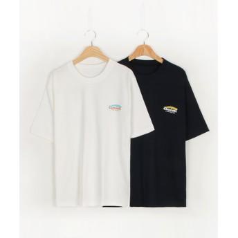 Tシャツ - NOWiSTYLE MICHYEORA(ミチョラ)ワンポイントロゴTシャツ韓国 韓国ファッション Tシャツ トップス 半そで Uネック パステル