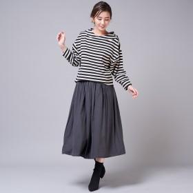 un dix cors(アンディコール)/割繊ギャザースカート