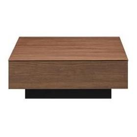 リビングテーブル ローテーブル 引出し付 スクエアデザイン CUBO 幅80cm 角型 ブラウン